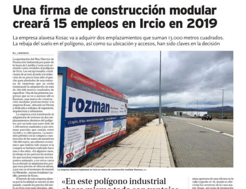 Rozman empresa de construcción modular se implanta en Ircio