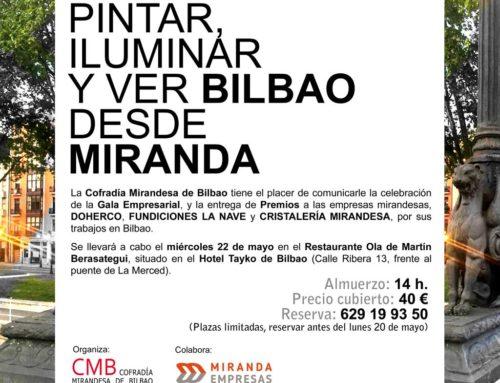 Pintar, iluminar y ver Bilbao desde Miranda