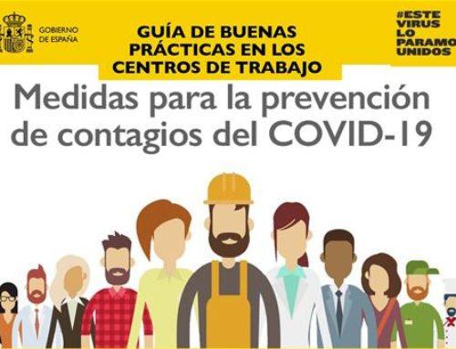 Buenas prácticas de prevención en los centros de trabajo frente al COVID-19