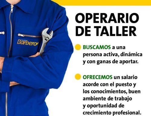Operario taller para Talleres Barbero