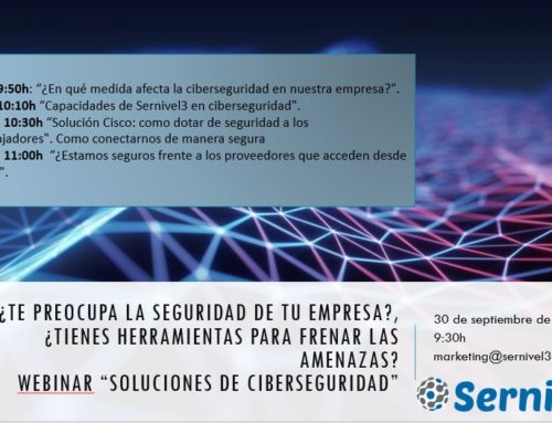 Webinar: Soluciones de ciberseguridad el 30 de Septiembre por Sernivel3