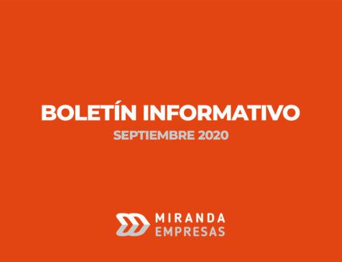 Boletín informativo Miranda Empresas · Septiembre 2020