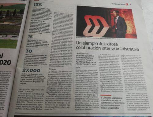 Noticia de el Correo sobre el balance del año 2020 Miranda Empresas