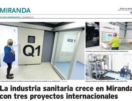 Diario de Burgos: La industria sanitaria crece en Miranda con tres proyectos internacionales