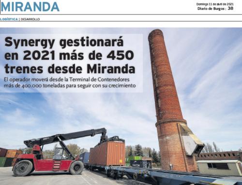 Diario de Burgos: Synergy gestionará en 2021 más de 450 trenes desde Miranda